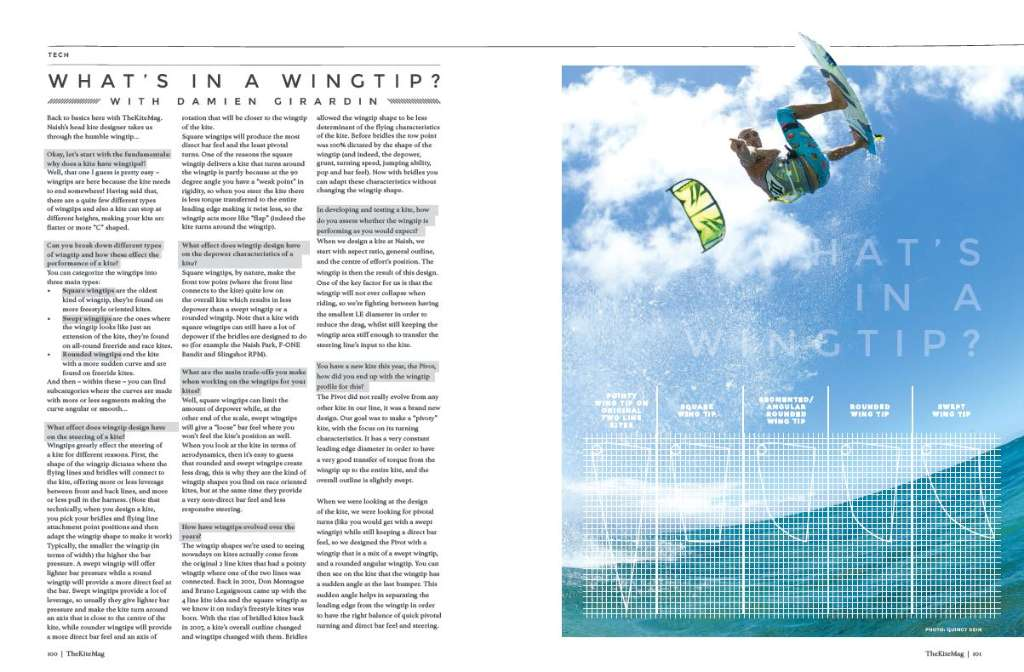 Whats in a wingtip - TheKiteMag Issue #1