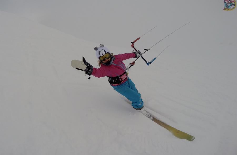3 - Kari's glory at Snowkite Masters