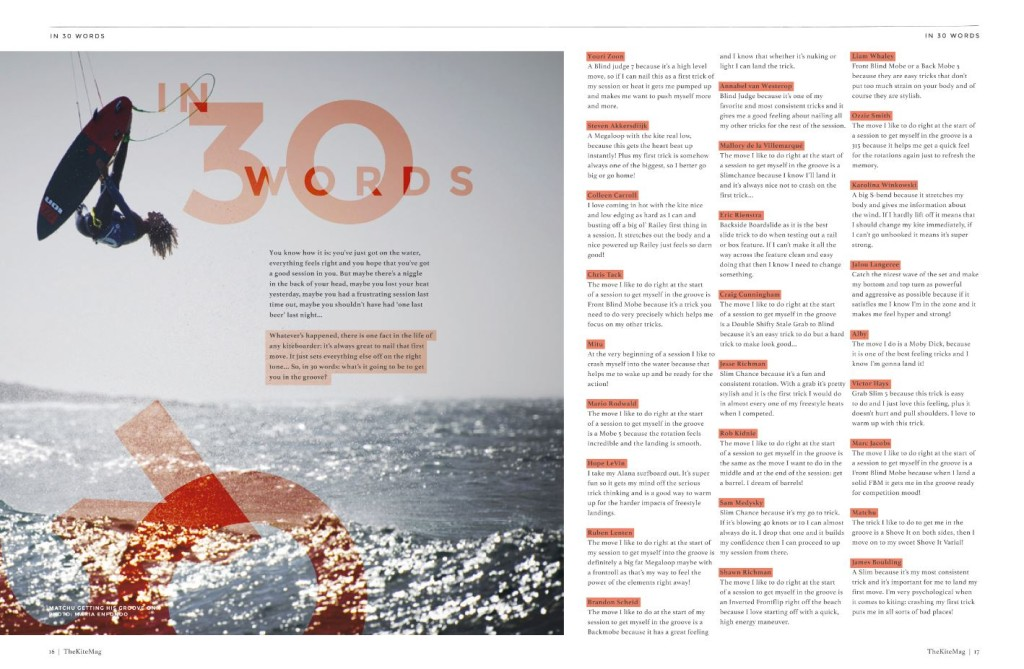 In 30 words - TheKiteMag Issue #2