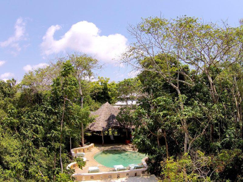 kenyaways drone 4 pool 800x600 - Kenyaways Kite Village - Kenya
