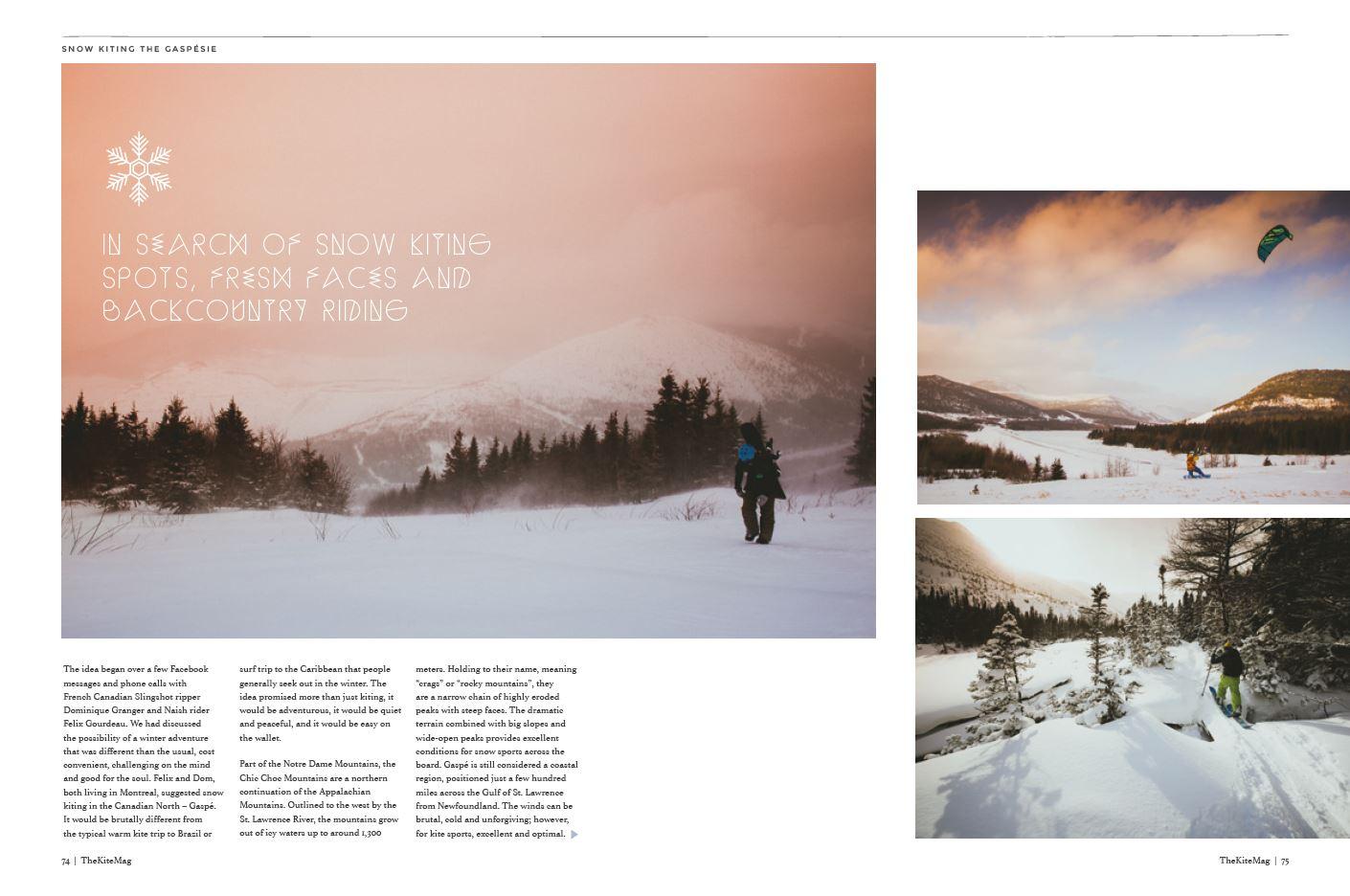 Snow kiting - TheKiteMag Issue #3