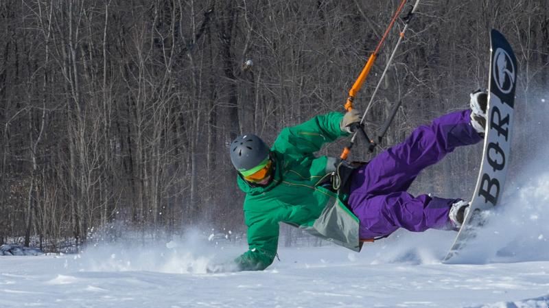 tail press1 - Snow Kiting is Hard