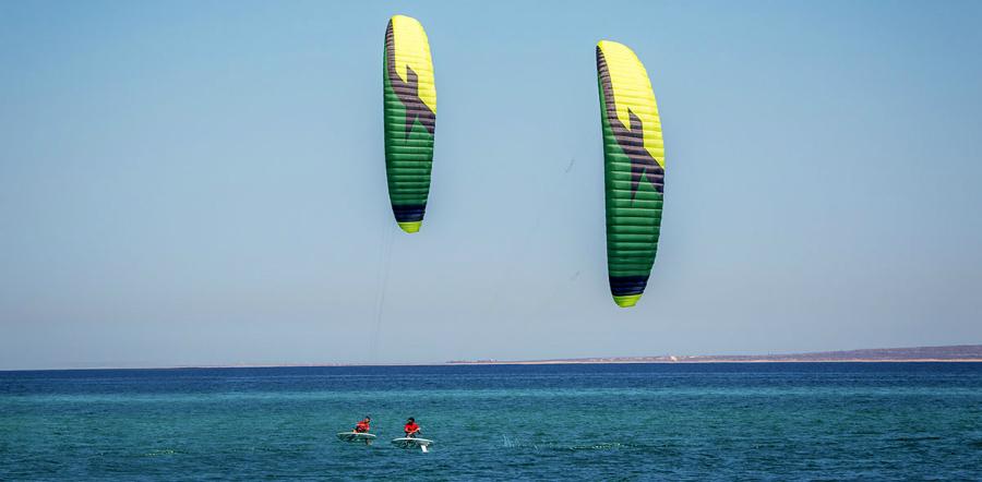 F ONE foil maxime romain green yellow 0 - F-ONE Foil Kite: Raphaël Salles
