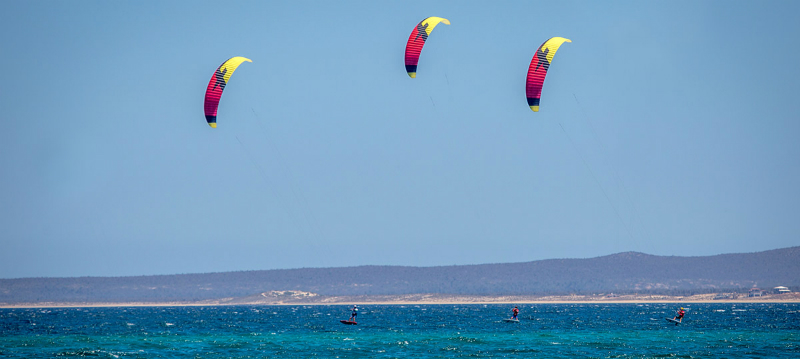 F ONE kite foil red yellow three 0 - F-ONE Foil Kite: Raphaël Salles