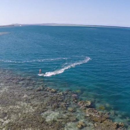 fiji times kiteboarding over ree 450x450 - Fiji times - Kiteboarding over Reef
