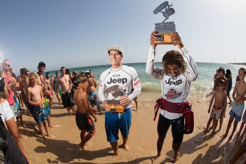 Airton and Keahi 2015 top two Toby Bromwich Tarifa Strapless Kitesurfing Pro 2015 1 795x530 - Tarifa Strapless Wave and Freestyle Grand Slam gearing up