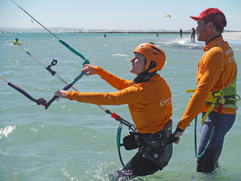 learning to kiteboard - Langebaan: The perfect place to kitesurf