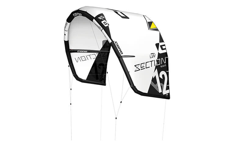 CORE Section 2 Lightwind Cutout white 300dpi - CORE unleashes 2nd Generation comp level Wave and C-kite