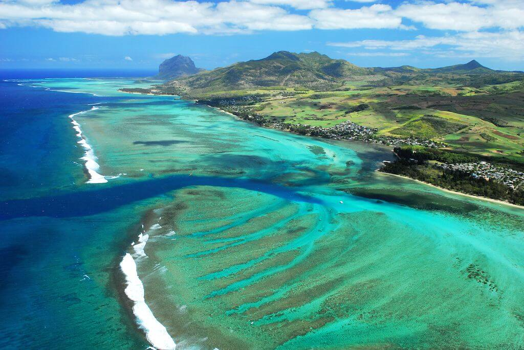 Bel Ombre lagoon - Great flat water lagoons to learn to kitesurf