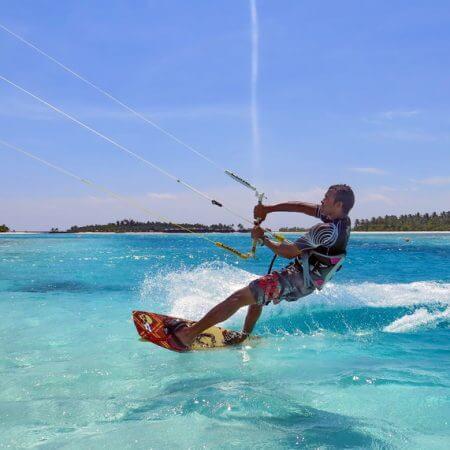 Kite surfing anantara maldives 450x450 - Great flat water lagoons to learn to kitesurf