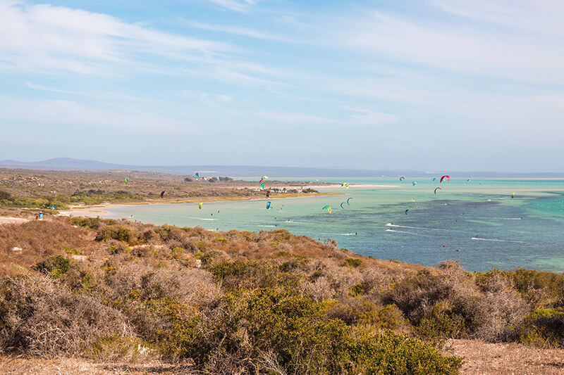 Shark Bay langebaan - Kitesurfing holidays for the whole family