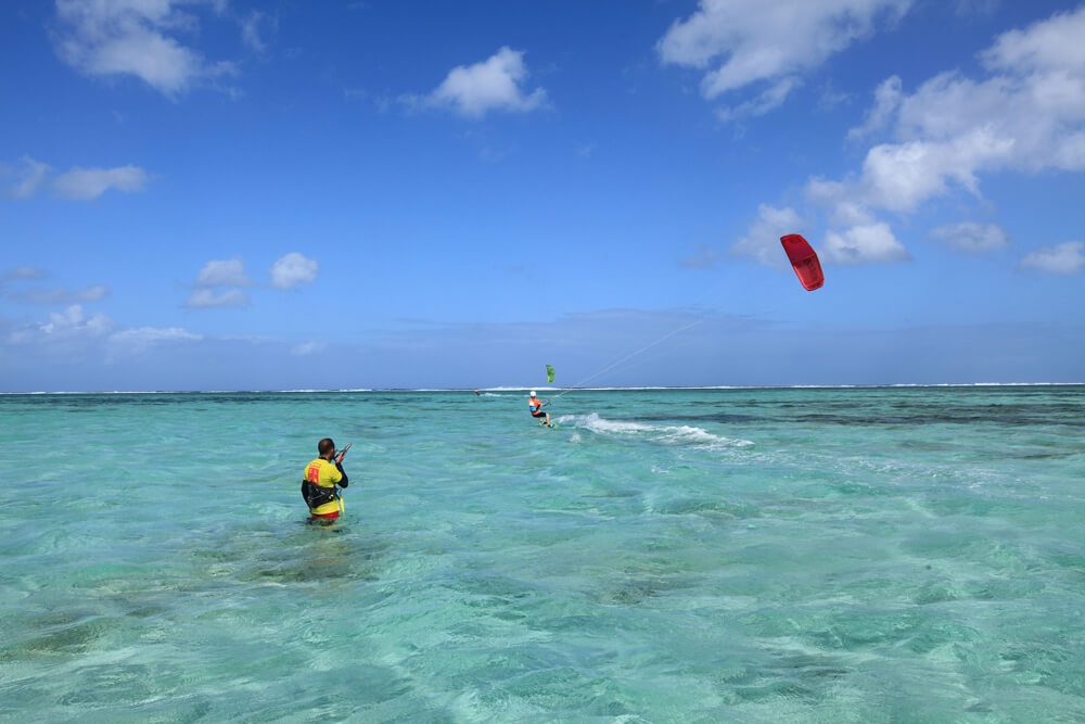 le morne maldives - Great flat water lagoons to learn to kitesurf