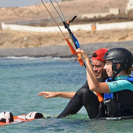 learning kitesurf 450x450 - Kitesurfing holidays for the whole family