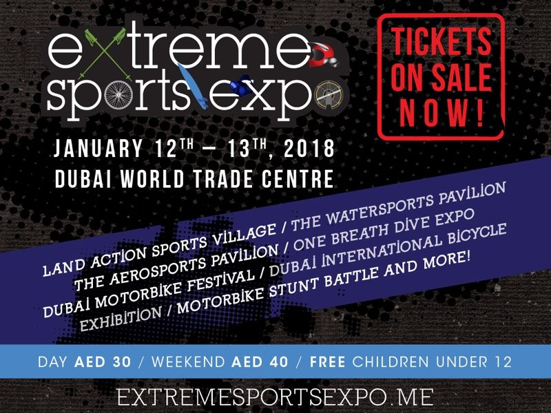 Tickets on sale Extreme Sports Expo  e1513199061787 800x600 - Get set for the Extreme Sports Expo