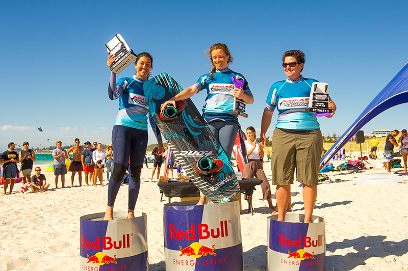 Womens Twin Tip Podium GSP 18.12.08 Red Bull Lighthouse to Leighton 001 10 - Guy Bridge breaks Red Bull Lighthouse to Leighton record