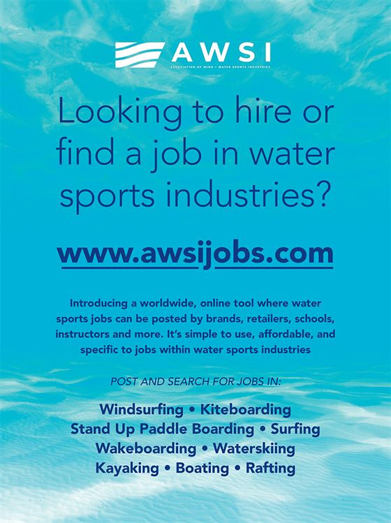AWSI Job Board FullPage - The new water sports job finder is now online!
