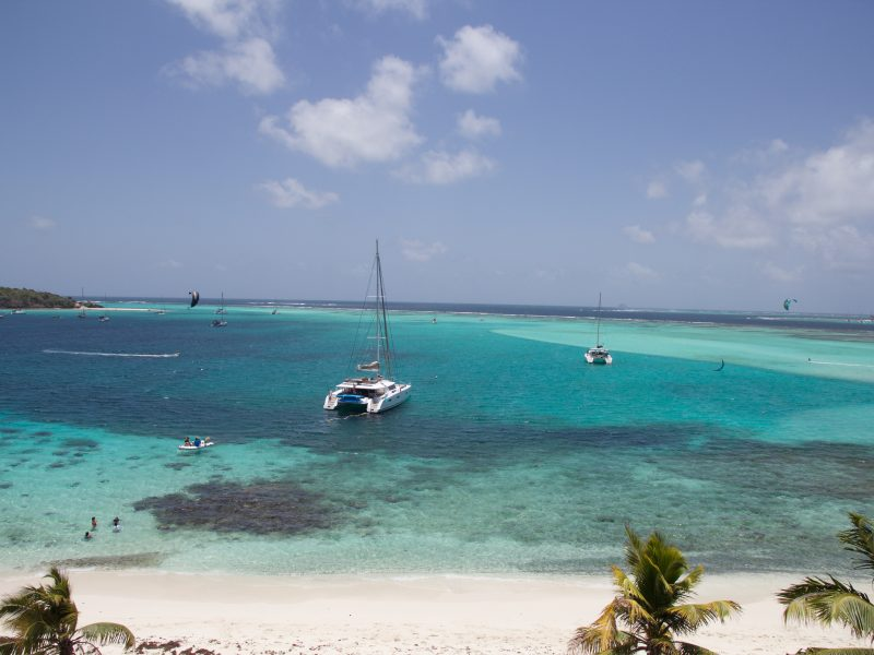 Tobago Cays view from hill 800x600 - Uncharted Kitesurfing - Grenadines