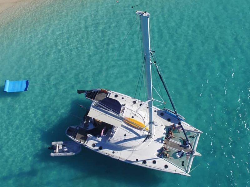 vivo drone from above with beach 800x600 - Uncharted Kitesurfing - Grenadines
