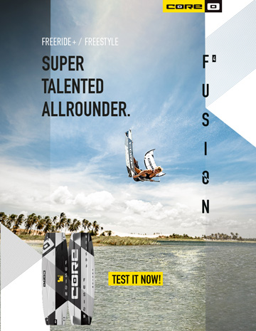 CORE FUSION4 Webbanner - Kitesurf in Paris