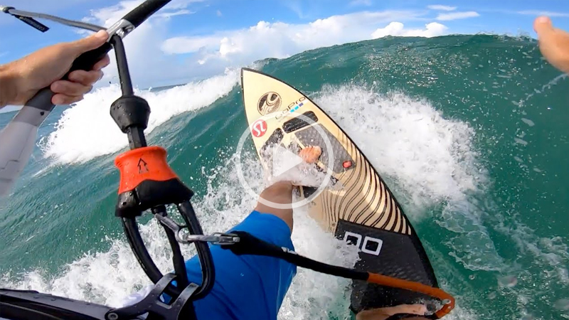 """damien - Kitesurfing basics """"How to"""" ride a directional surfboard"""