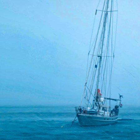 The bad weather starts 38 knots are hiting Yndeleau 450x450 - Yndeleau EP 3: Running from a hurricane