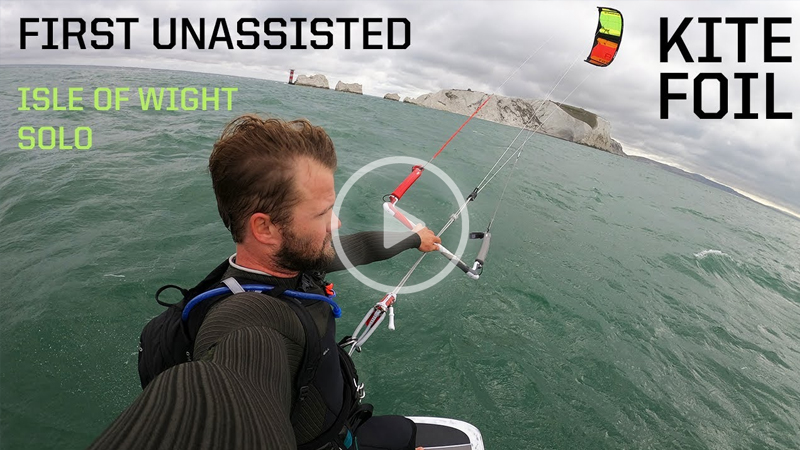 samlight copy - Sam Light first unassisted solo kite foil around the Isle Of Wight