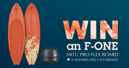GIVEAWAY! Win an F-ONE MITU Pro Flex board + Manera EXO 2.0 harness!