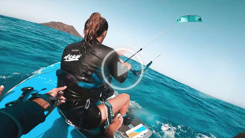 julia castro - Kitesurf/SUP crossing from Corralejo to Isla de Lobos
