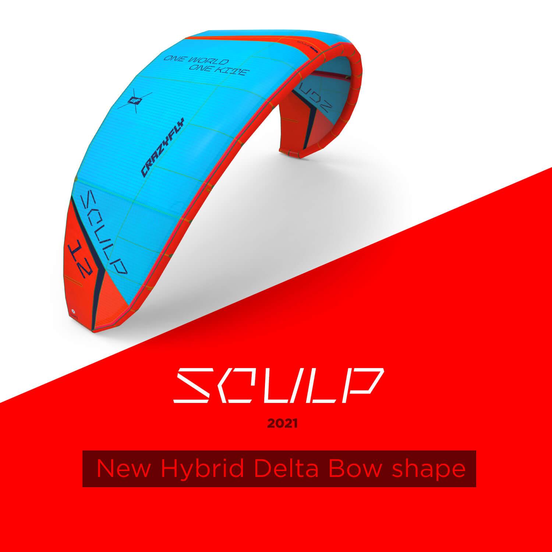 main slide 01 sculp - CrazyFly release the new Sculp kite and Cruz foil