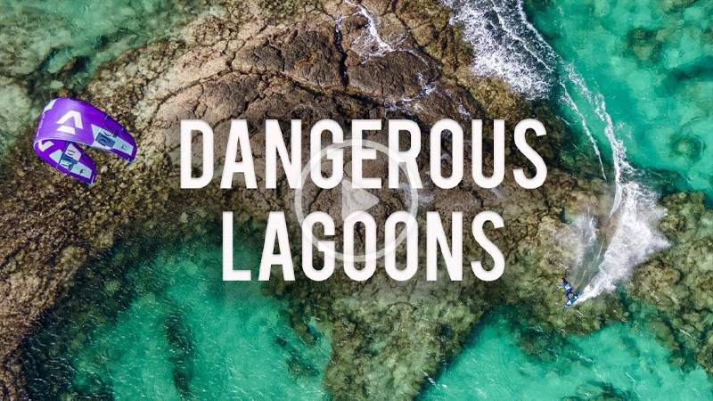 Tom Court Lagoons - Tom Court kiteboarding dangerous lagoons