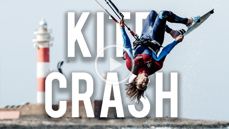 Tom Court kite crash - KITE MARE in the lagoons!