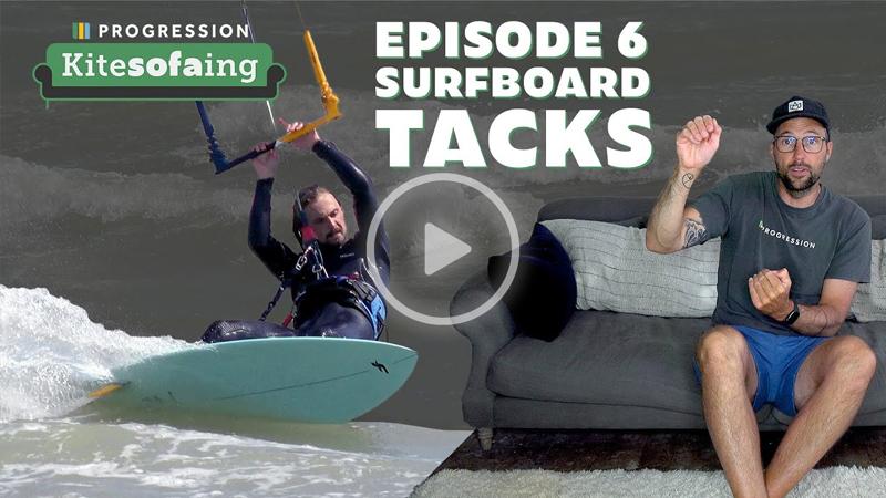 Kitesofaing - KiteSOFAing Episode 6: Surfboard Tacks Kitesurfing