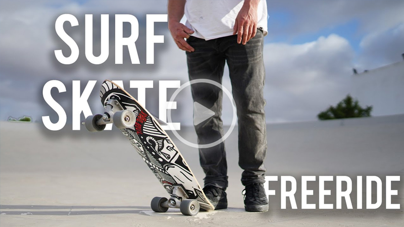 SurfSkate - Court In The Act - KITE & CARVER SKATE freeride!