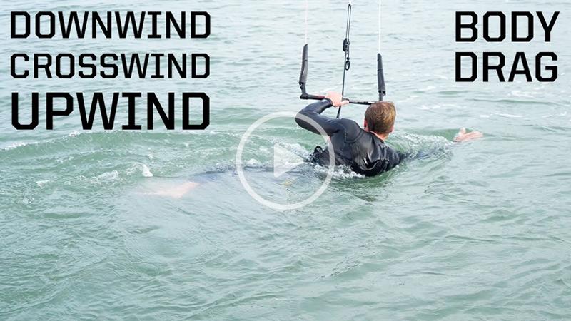 body drag - How to body drag kitesurfing