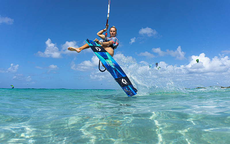 Pippa van Iersel keeping it cool shot by Arnaud Plas Fly Media Productions - Yndeleau - Kiting and sailing the world - Bonaire
