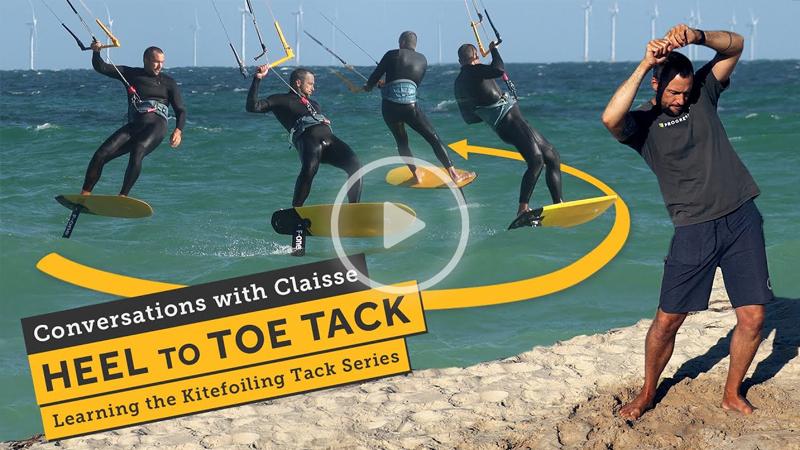 progression sports - Kitefoiling Tacks - Toe to Heel Tack