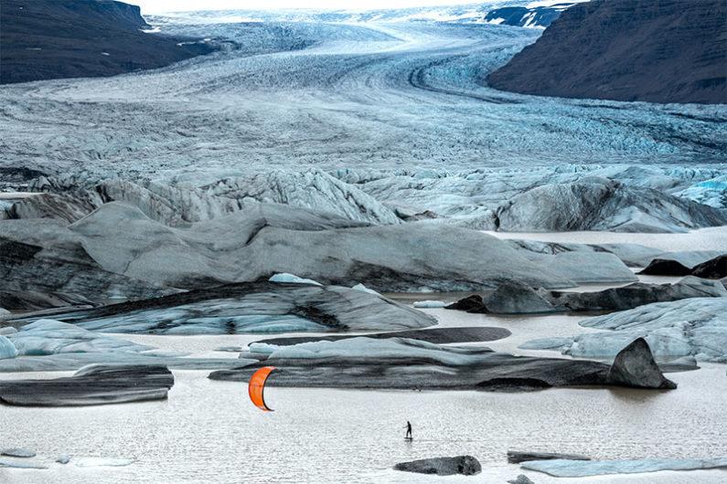 Roderick iceberg 795x530 - Kiting in an Icelandic volcano...